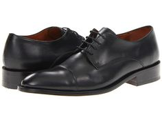 Fitzwell Thomas Cap Toe Black Leather - Zappos.com Free Shipping BOTH Ways