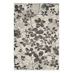 Safavieh Evoke Collection Flora 3-Foot x 5-Foot Accent Rug in Grey/Light Blue