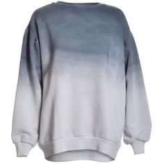 Cult Charcoal Ombre Oversized Sweat ($79) ❤ liked on Polyvore featuring tops, hoodies, sweatshirts, sweaters, long sleeves, shirts, ombre top, oversized long sleeve shirts, long sleeve tops and charcoal shirt