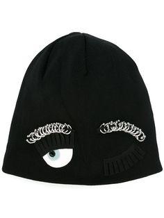 071da037c8c Chiara Ferragni  Flirting  Beanie - Farfetch. Black Beanie · Beanie Hats ...
