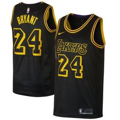 88fb38a40 Nike Lakers  24 Kobe Bryant Black NBA Swingman City Edition Jersey