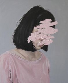 Imagem de art, girl, and pink