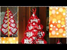 Albero di Natale ad uncinetto - YouTube Christmas Bulbs, Stitch, Knitting, Holiday Decor, Youtube, 1, Christmas Decor, Creativity, Creative