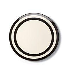 kate spade new york Melamine Dinner Plate, Black Stripe
