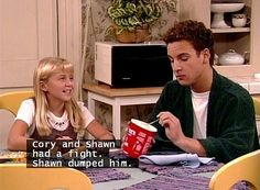 Cory and Shawn had a fight Shawn dumped him Morgan Matthews Boy Meets World Girl Meets World, Boy Meets World Cast, Boy Meets World Quotes, Boy Meets Girl, Cory And Shawn, Cory And Topanga, Best Tv Shows, Best Shows Ever, Favorite Tv Shows