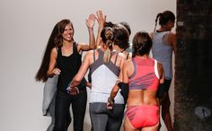 "The finish line... so good! ""On Catwalk, Runners Replace Models for a Sportswear Company"""