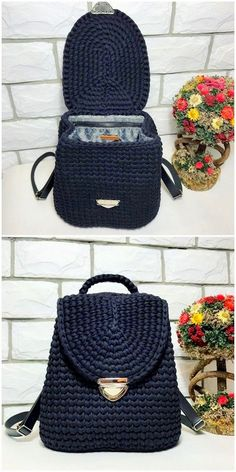 Style Crochet Ideas And Designs - DIY Rustics - Crochet Patterns - Style Crochet Ideas And Designs – DIY Rustics interesting crochet bag pack Diy Crochet Basket, Free Crochet Bag, Diy Crafts Crochet, Knit Crochet, Crochet Backpack Pattern, Bag Pattern Free, Crotchet Bags, Knitted Bags, Crochet Handbags
