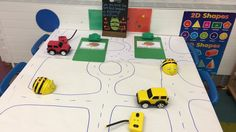 Maths area; looking at directions using beebots and remote controlled cars purchased from TTS. Talking clipboards purchased from TTS with growth mindset characters.