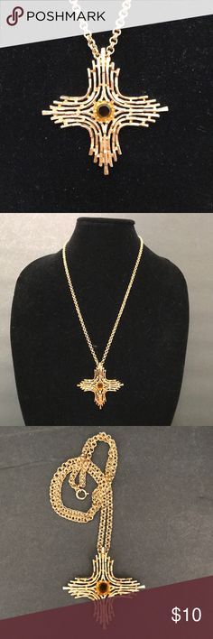 "Sarah Coventry OMEGA Cross Rhinestone Necklace This is a gently used, vintage OMEGA necklace by Sarah Coventry. Necklace drop: 14"". Pendant measures: 2.5"" x 2.5"" Sarah Coventry Jewelry Necklaces"
