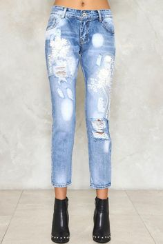 010a853e9 The Up To Mischief Jeans come in light