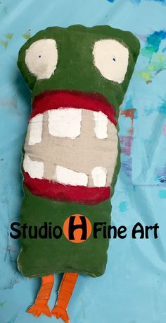e90548570 Monster designed, sewn, and stuffed by young artist at Studio H Summer Camp.