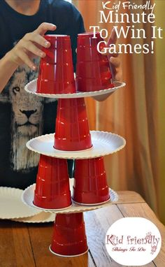 Kid Friendly Easy Minute To Win It Games for Your Party – Simple and fun games for your holiday, Christmas, school, or anytime party!kidfriendlyth… - Kid Friendly Easy Minute To Win It Games for Your Party {The Best!