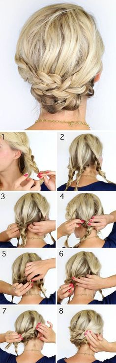 Updo Hairstyle Short hair updo hairstyles -- tutorials - Short hair updos, easy hairstyles for short tresses; updo hacks, tips, tricks tutorials perfect for prom, holiday season; Updo Hairstyles Tutorials, Braided Hairstyles Updo, Wedding Hairstyles, Braided Updo, Hair Tutorials, Hairstyle Short, Bohemian Hairstyles, Simple Hairstyles, Pixie Hairstyles