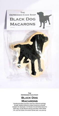 Black Dog Macarons for the Depressed Cake Shop