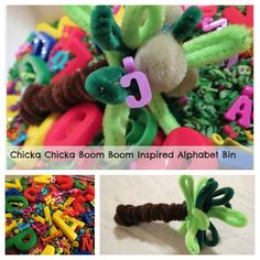 Chicka Chicka Boom Boom Craft with No Twiddle Twaddle | Make and Takes