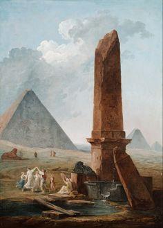 Hubert Robert - The Farandole Amidst Egyptian Monuments; Musée d'Art Classique de Mougins, Mougins, France; 18th century