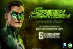 Sideshow Collectibles is releasing at least one more Green Lantern product this year in addition to the Hal Jordan Premium Format figure which is due to ship out this month.  Joining the figure is a life size bust of the Green Lantern which can be pre-ordered staring June 13th.  No word on the price, but given that the two foot high premium figure is selling for $350 it's a fair bet that the bust will be in a similar if not higher price range.  Fans can enter here for a chance to win a copy.