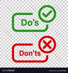 Dos and donts sign icon in transparent style like vector image on VectorStock Instagram Likes And Followers, Vector Free, Signs, Image, Style, Swag, Stylus, Shop Signs, Sign