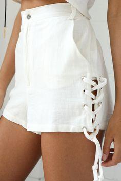 22caca9ae914a Copeland Linen Shorts    White