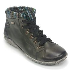bbe9abe8dc7 Women s R1473 Olive Leather Lace Up Ankle Boots