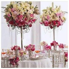 Beautiful table centrepieces