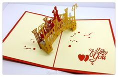 3D Pop Up I Love You Card by RejoiceArts on Etsy