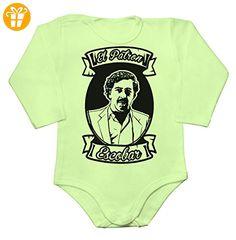 Pablo ESCOBAR EL PATRON Baby Long Sleeve Romper Bodysuit Medium - Baby bodys baby einteiler baby stampler (*Partner-Link)
