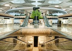 """Wooden """"pods"""" in the new terminal of Baku airport Turkish influence"""