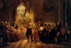 Adolf von Menzel depicting a flute concert of Frederick the Great print for sale. Shop for Adolf von Menzel depicting a flute concert of Frederick the Great painting and frame at discount price, ships in 24 hours. Cheap price prints end soon. Adolf Von Menzel, Friedrich Ii, Frederick The Great, Art Ancien, Mozart, Oil Painting Reproductions, Cultural, Prussia, Flute