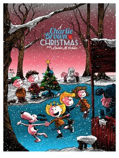 Limited edition A Charlie Brown Christmas 2016 prints by Tim Doyle and Ridge Rooms
