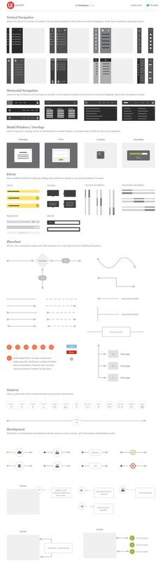 UI Wireflows by UX Kits on @creativemarket