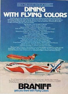 140 Best Braniff Advertising Images Advertising Vintage