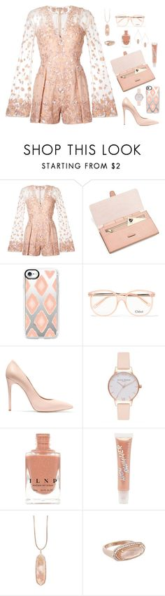 """""""Zuhair Murad Peach"""" by alara-cary on Polyvore featuring Zuhair Murad, Aspinal of London, Casetify, Chloé, Casadei, Olivia Burton, Forever 21 and Kendra Scott"""