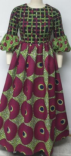 African Dresses For Kids, African Fashion Ankara, African Inspired Fashion, Latest African Fashion Dresses, African Dresses For Women, African Print Fashion, African Attire, African Blouses, African Traditional Dresses
