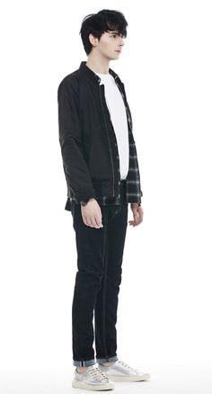 """입으면서 길들이는 """"드로우엠""""의 리얼 생지데님. 12온스의 두께감있는 Raw데님원단 사용, 182cm, 67kg, 30"""" size"""