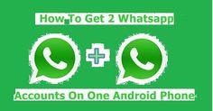 #two #whatsapp #in #single #phone