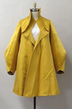 Charles James - Couturier - Mode - Manteau Court - 1947 - Jaune