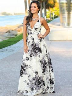 0ebb7fb81a Bohemian cotton V-neck elegant backless Strap Dresses – stylnbo #boho #bohemian#