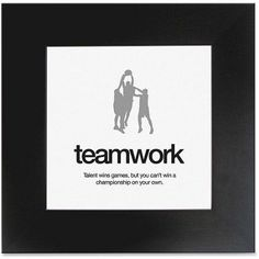 Aurora Products Teamwork Motivational Poster, Size: 20 inch Width x 20 inch Height, Black