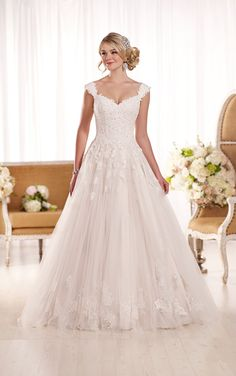 Lace Wedding Dresses with Cap Sleeves | Essense of Australia