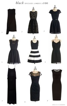 Black Dresses Under $100 via @dressforwedding