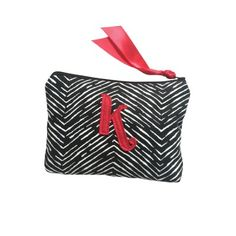 Red Black & White Cosmetic Bag - $33.00