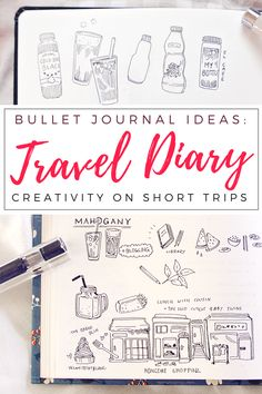 Travel diary doodles in my bullet journal: Little buildings, food log, sketches & daily life in Seoul! I never seem to have time for elaborate travel sketches when on the road, but I love making small doodle drawings to capture memories. No fancy materials or much desk space needed, just a bulletjournal and pen. :)