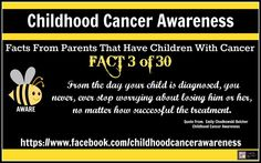 Childhood Cancer Awareness  FACT #3  Facts From Parents That Have Children With Cancer Created By: Stacey Reich