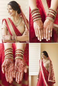Indian Wedding Bride Bridal Garrett Frandsen Mendhi Mehndi Henna Dress Bangles Atlanta