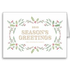 DELICATE WREATH | HOLIDAY GREETING CARD