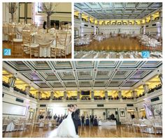 Soldiers & Sailors Memorial Hall & Museum Trust | Pittsburgh Wedding Reception Venue | Grand Ballroom | 21 Moments Photography | First Dance | Gold Chiavari Chairs | Gold Overlay Linen | Blue and Purple Orchid Centerpiece