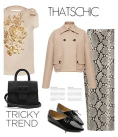 """""""* o x f o r d s *"""" by bliznec ❤ liked on Polyvore featuring Rochas, Ollio and Maison Margiela"""