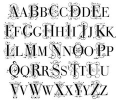 fancy letters of the alphabet | alphabet in different fonts Fancy Alphabet Letter Styles