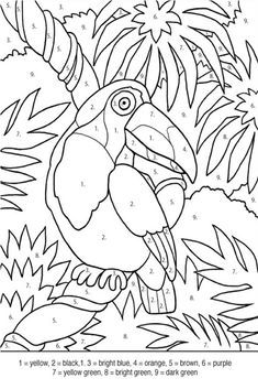 90. color by number bird coloring pages - Enjoy Coloring